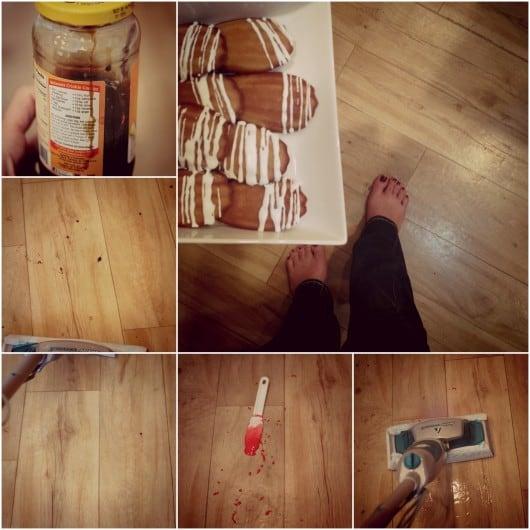 clean floors with Bissell Steam mop @createdbydiane