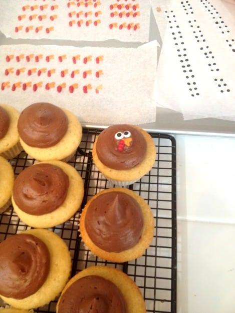 how to make turkey cupcakes @createdbydiane.jpg