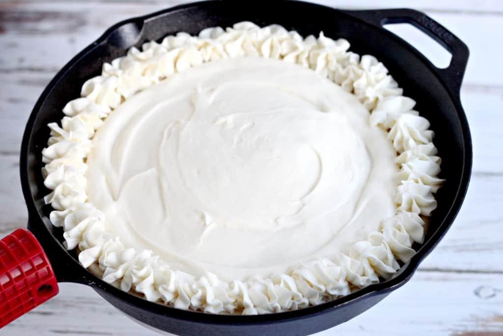 Cherry Cheesecake Skillet Cookie Pie @createdbydiane