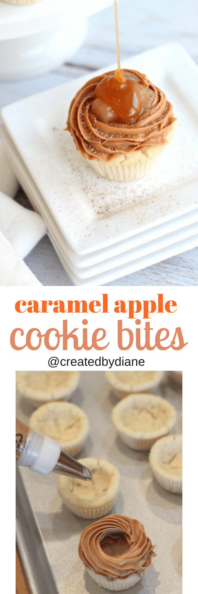 caramel apple cookie bites from @createdbydiane