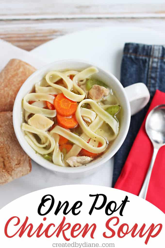 one pot chicken soup under 30 minutes