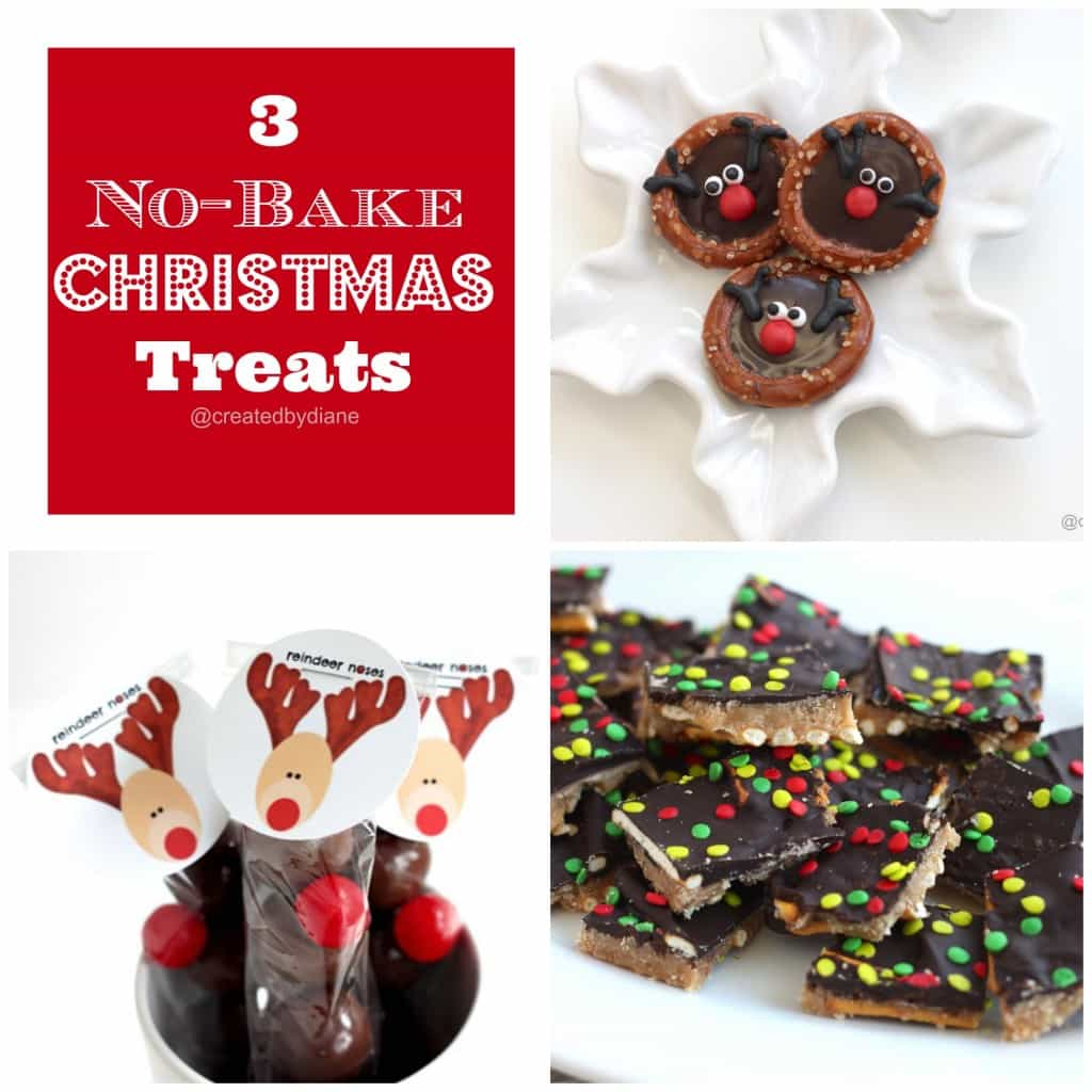 3 no bake Christmas Treats | Created by Diane