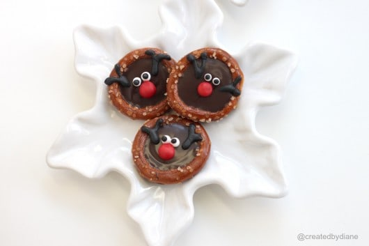 reindeer pretzels, Rudolphz pretzels