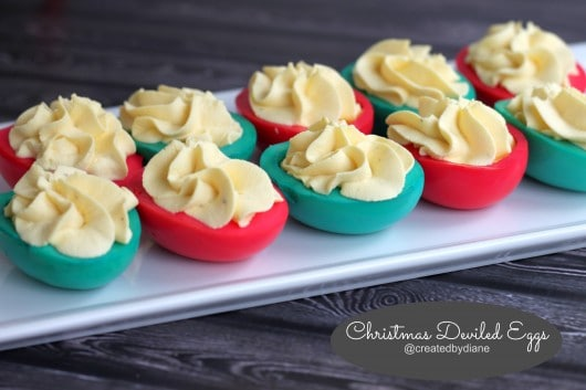 christmas deviled eggs