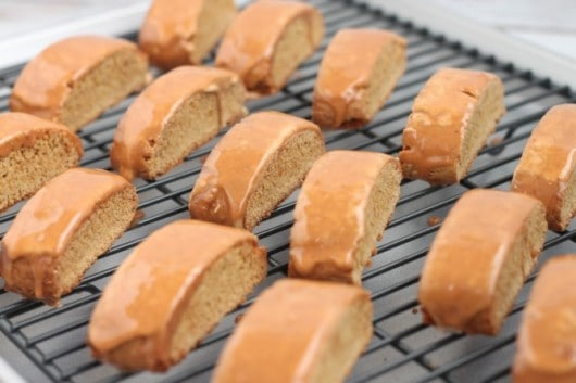 Gingerbread Biscotti with Gingerbread Icing @createdbydiane