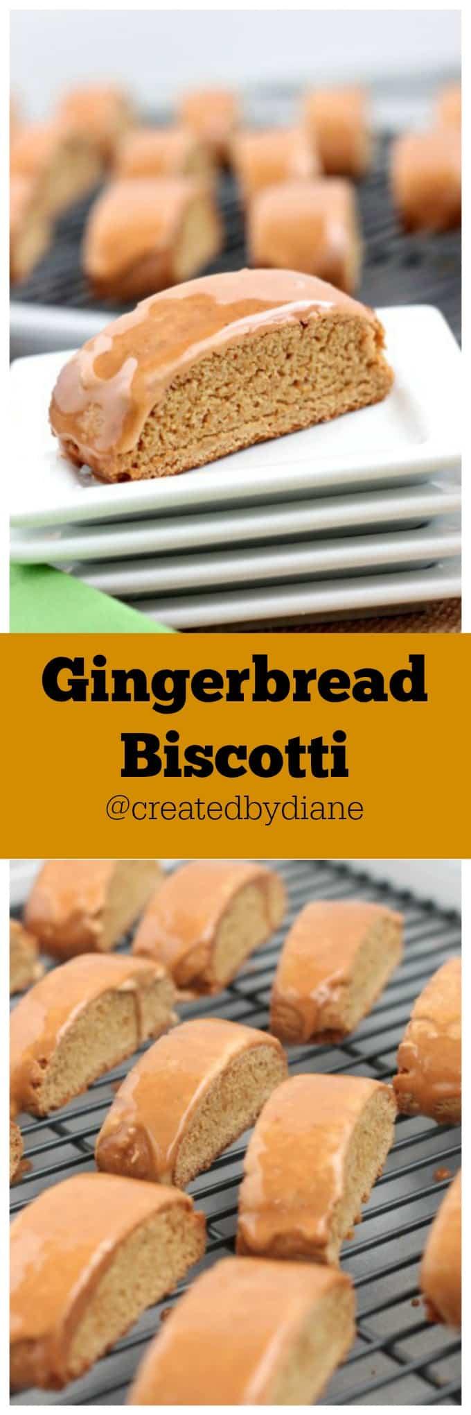 Gingerbread biscotti @createdbydiane