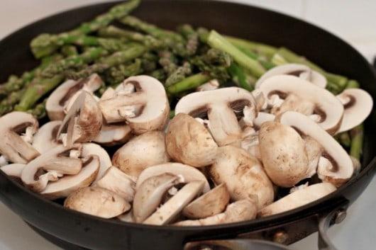 Mushrooms and Asparagus