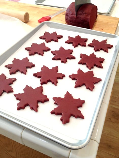 Red Velvet Cut Out Cookies