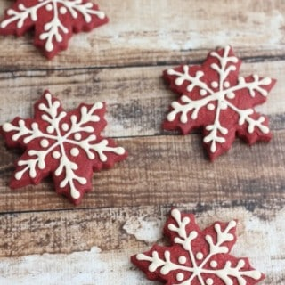 Red Velvet Snowflake Cookie