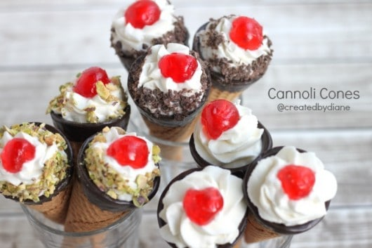 cannoli cones CONE-oli's