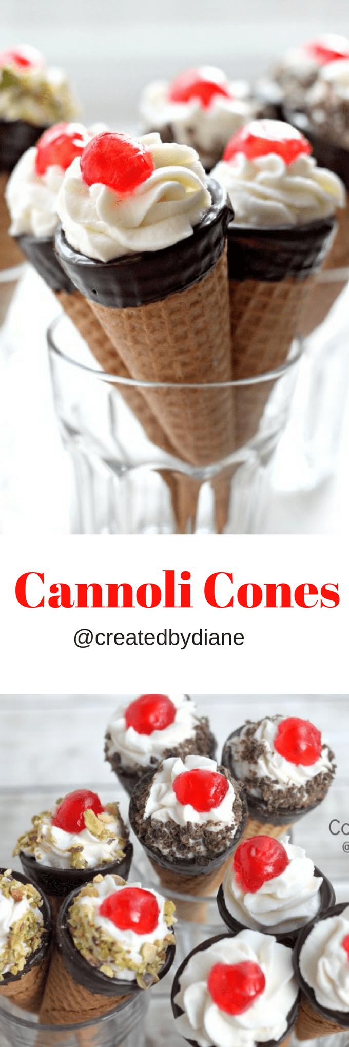 cannoli cones @createdbydiane