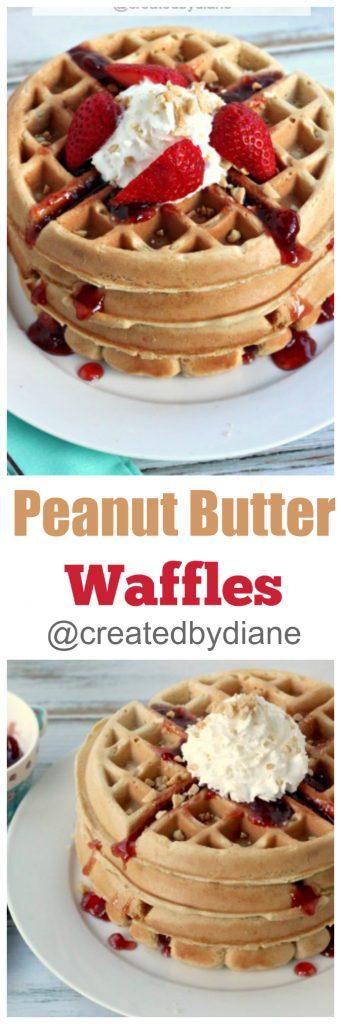 peanut butter waffles @createdbydiane