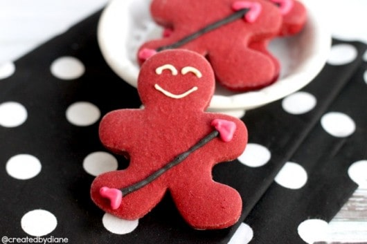 Cupid Gingerbread Boy RedVelvet Cookies