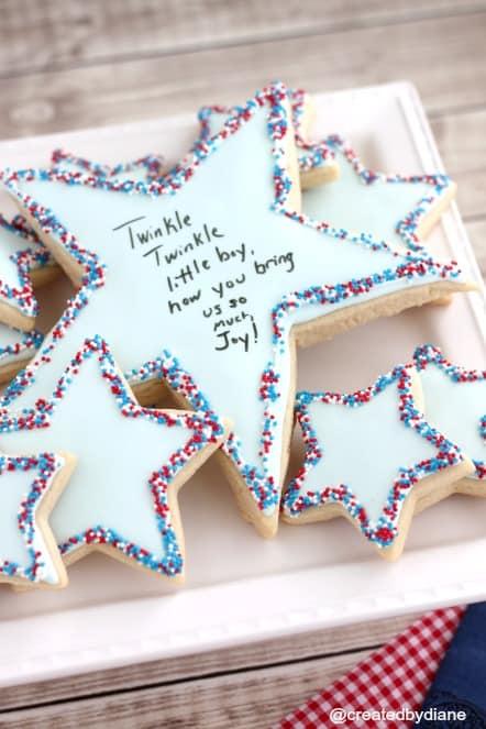 Twinkle Twinkle little boy Cookies @createdbydiane