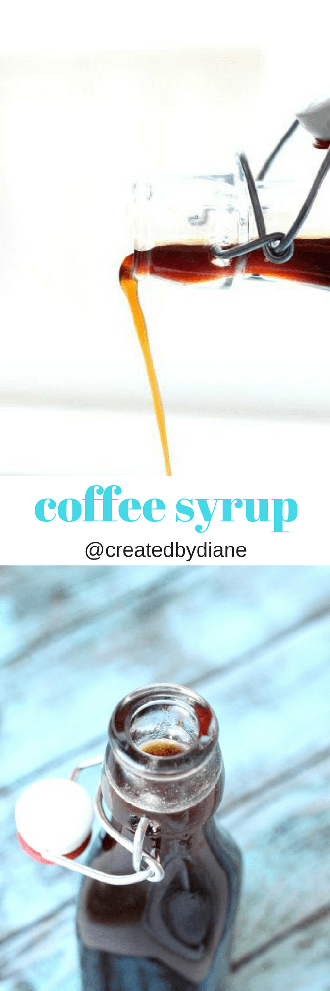 homemade coffee syrup recipe great for ice cream, drinks, smoothies, fruit, yogurt, breakfast and desserts @createdbydiane