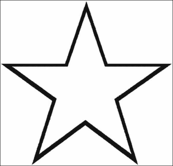 Star Printable Coloring Pages