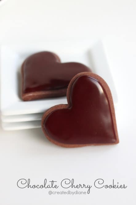 Chocolate Cherry Cookies @createdbydiane