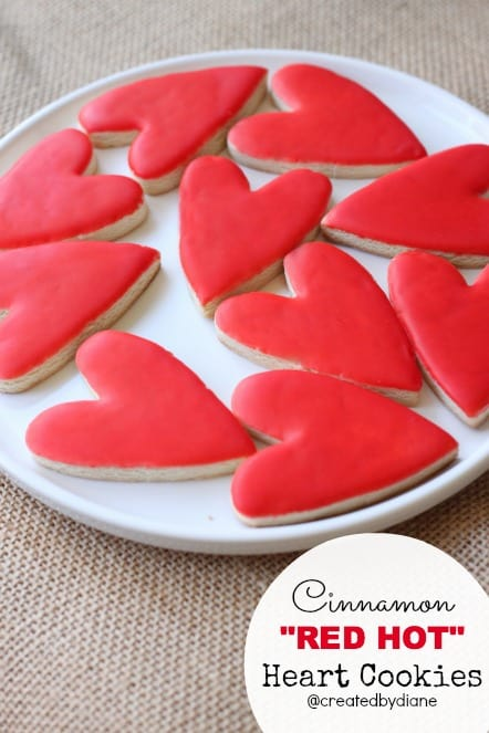 Cinnamon RED HOT Heart Cookies @createdbydiane