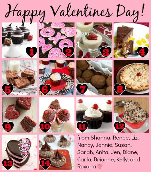 #holidayfoodparty Valentine's Day Post 14 Fabulous Recipes for Valentine's Day @createdbydiane