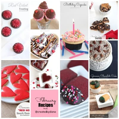 February Recipes from @createdbydiane