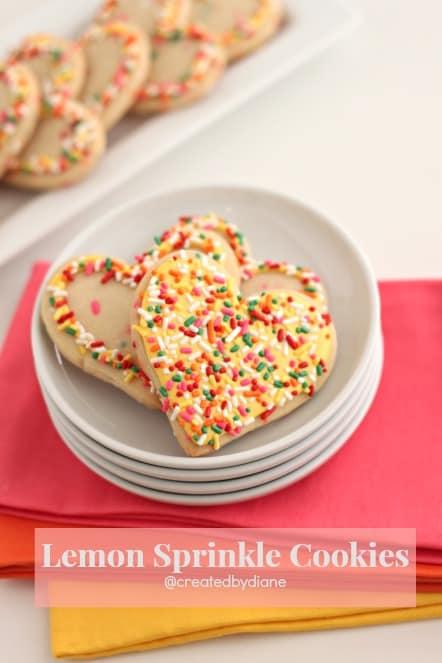 Lemon Sprinkle Cookies @createdbydiane