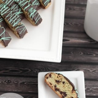 Mint Chocolate Chip Biscotti