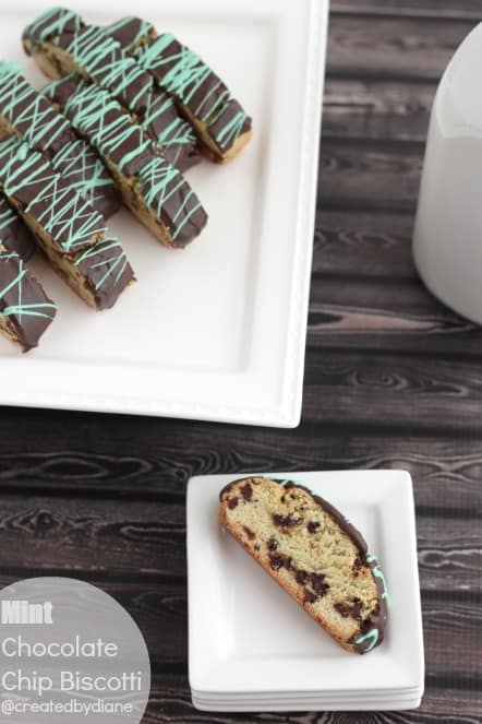 Mint Chocolate Chip Biscotti @createdbydiane