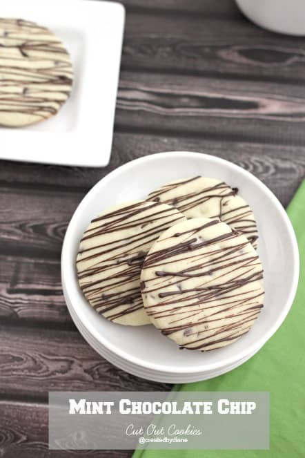 Mint Chocolate Chip Cut Out Cookies @createdbydiane