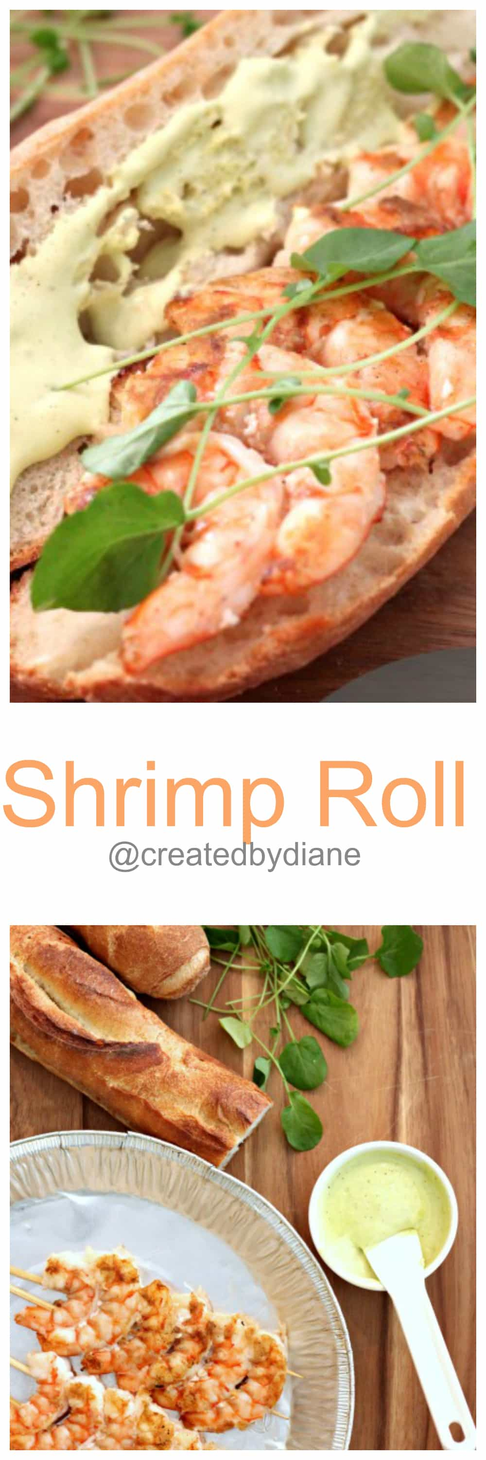 Shrimp Roll @createdbydiane