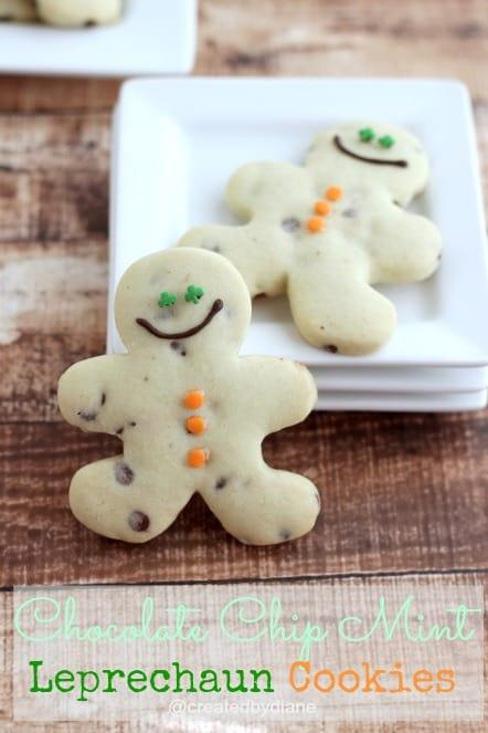 Leprechaun Mint Chocolate Chip Cookies @createdbydiane