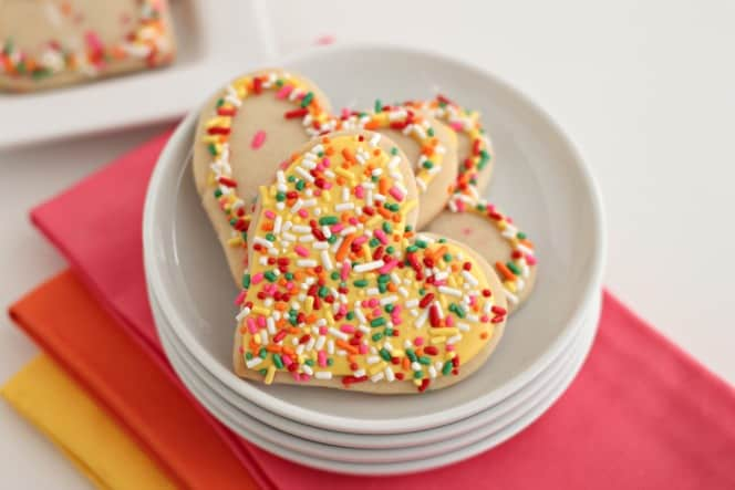 lemon cookies with sprinkles, lemon icing and more sprinkles @createdbbydiane #sprinkles #lemon