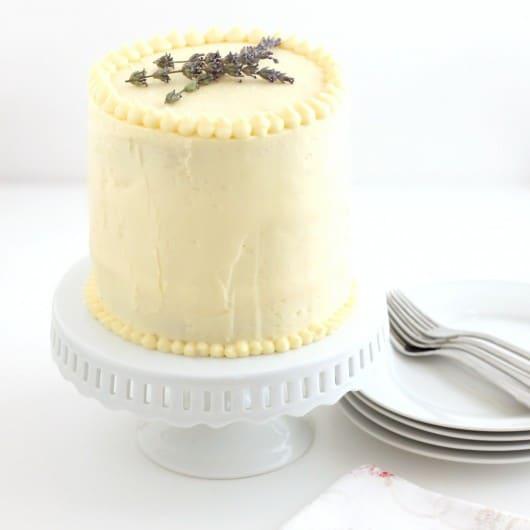 triple lemon flavored three layer cake