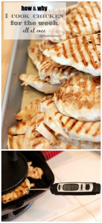 How to cook chicken for the week and save time each day making meals @createdbydiane