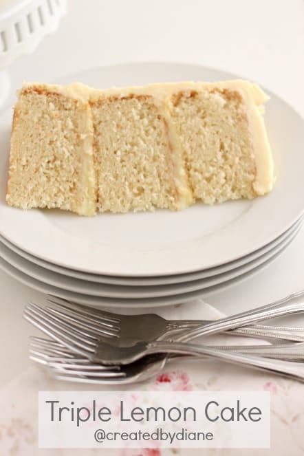 Lemon Cake, Lemon Pastry Cream Filling and Lemon Cream Cheese Frosting @createdbydiane