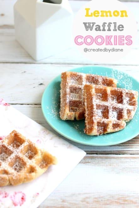 Lemon Waffle Cookies from @createdbydiane