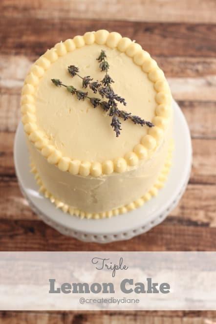 Triple Lemon Cake @createdbydiane.jpg