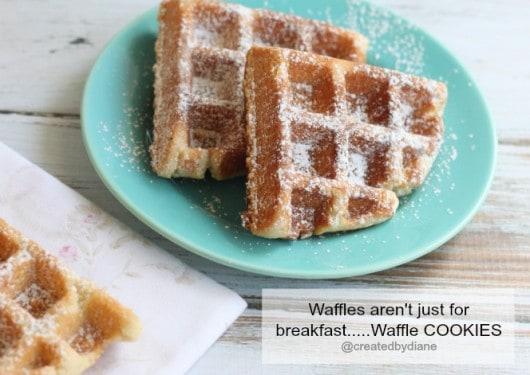 Waffle Cookies www.createdby-diane.com