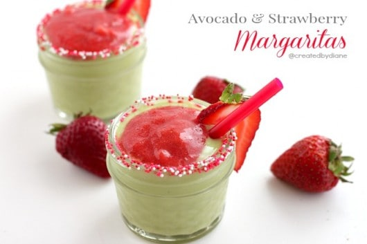 avocado and strawberry margaritas