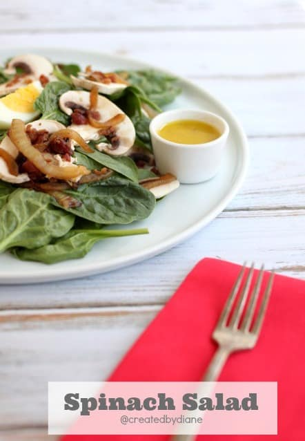 delicious Spinach-Salad-@createdbydiane recipe