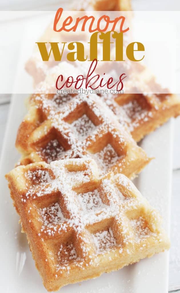 lemon waffle cookies createdbydiane.com