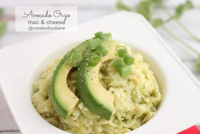 Avocado Orzo Mac and Cheese from @createdbydiane