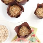 Brown Sugar Banana Nut Oatmeal Muffins @createdbydiane