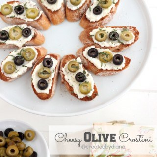 Cheesy Olive Crostini