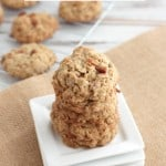 Oatmeal Maple Bacon Cookies @createdbydiane