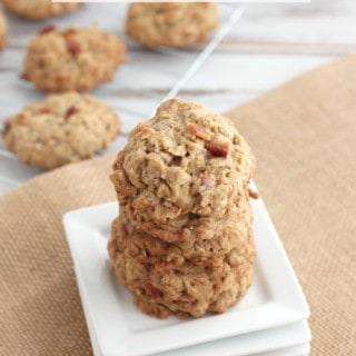 Oatmeal Maple Bacon Cookies
