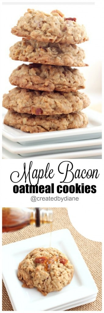 maple bacon oatmeal cookies @createdbydiane delicious