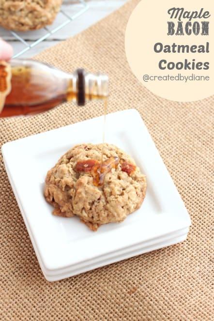 maple bacon oatmeal cookies @createdbydiane