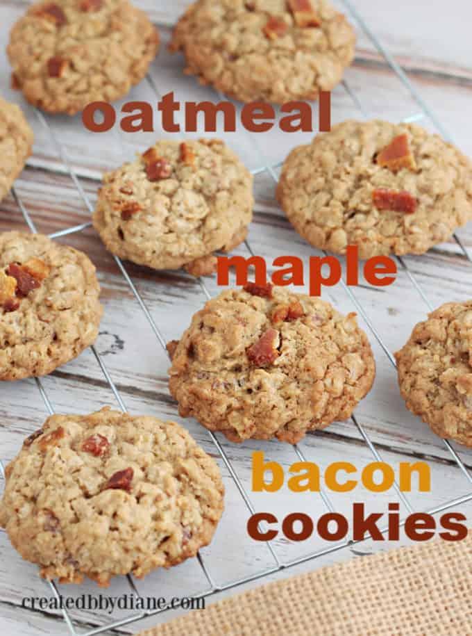 oatmeal maple bacon COOKIES createdbydiane.com