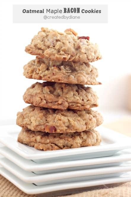 oatmeal maple bacon cookie recipe @createdbydiane