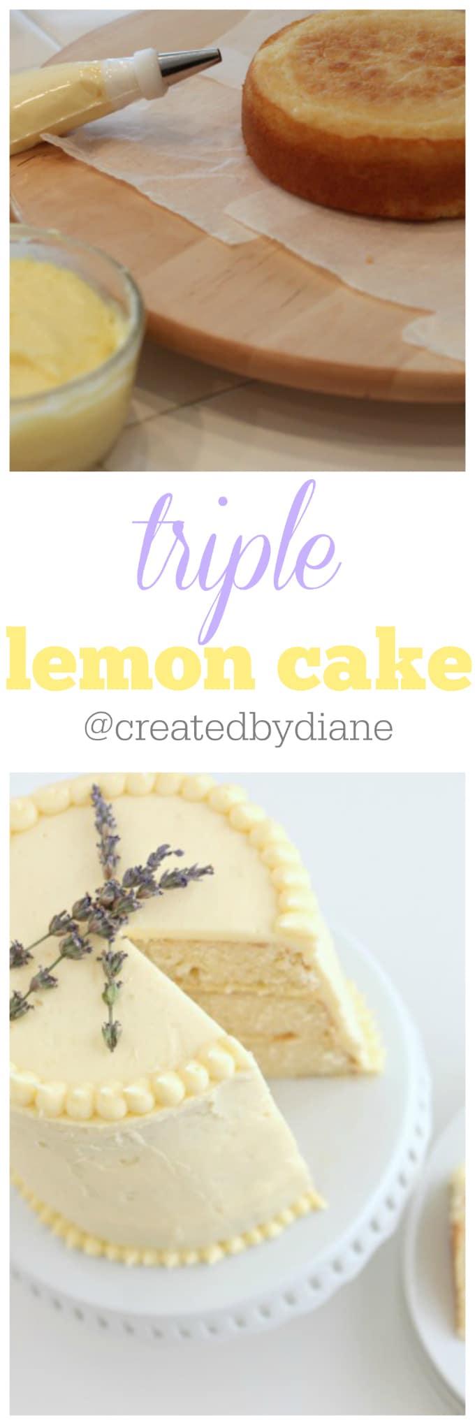 triple lemon cake recipe and instructions from @createdbydiane